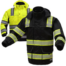 GSS Safety 8507 Lime or Black 3-in-1 Parka