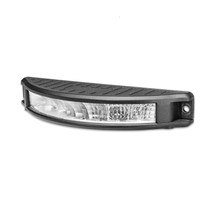 Curved Lens Design for wider field of view 800 Lumens Flood Beam Includes Mounting Bracket