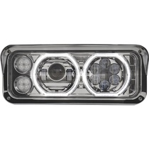 LED bulb delivers 2,000 Lumens on high beam/1,300 Lumens on low beam