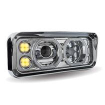 LED/Halo Headlight Projector Assembly | Chrome (Passenger Side)