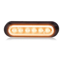 Low Profile Strobe Light | 6 LED, Amber/Clear