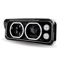 LED/Halo Headlight Projector Assembly | Black (Driver's Side)