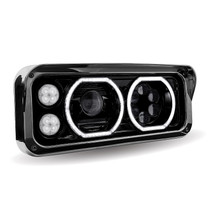 LED/Halo Headlight Projector Assembly | Black (Passenger's Side)