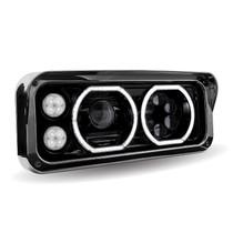 LED/Halo Headlight Projector Assembly | Black (Passenger's Side)