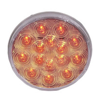 Maxxima - 4 in. Round Light | 15 LED, Amber-Clear
