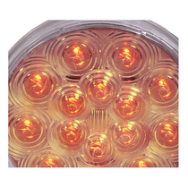 Maxxima - 4 in. Round Stop/Tail/Turn Light | 15 LED, Amber-Clear