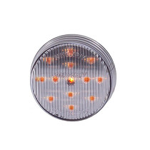 Round Amber LED Clearance Marker Light | 2.5 in. Clear Lens