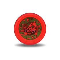 Red Ribbed Marker Light | 2 in., 9 LED