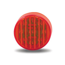 2.5 in. Round Red Ribbed Marker Light | 13 LED