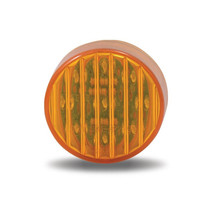 2.5 in. Round Ribbed Amber Marker Light | 13 LED
