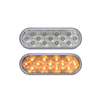 Oval Amber S/T/T Light | 13 LED, Mirror Clear