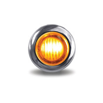 3/4 in. Mini Button Clear Amber LED | 2 Wire