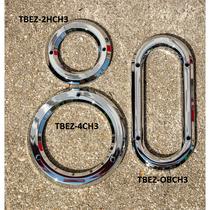 Oval Chrome Plastic Bezel | No Visor