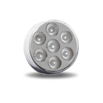 """2-1/2"""" ROUND CLEAR RED LED (7 DIODES)"""