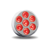 "2-1/2"" ROUND CLEAR RED LED (7 DIODES)"