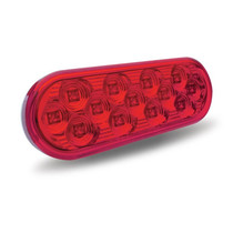 Oval Red S/T/T Mirror Light | 13 LED