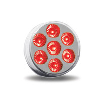 2 in. Clear/Red Round LED Marker Light | 9 LED