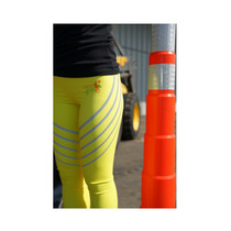 S4H - Silver Reflective Yellow Leggings