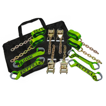 8 pt. Tie-Down Kit w/ 14 ft. Straps and Chain
