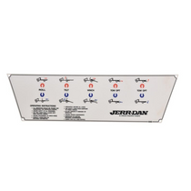 Decal Control Panel 5 Bank IRL L | Jerr-Dan PN 7330000648