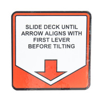 Arrow Rollback Tilt Decal | Jerr-Dan PN 1001154689