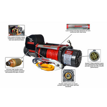 12,000 LB Samurai Series Planetary Gear Winch (Synthetic Rope) | DK2