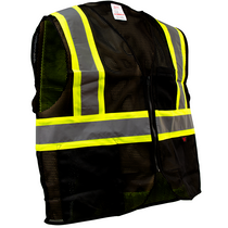 Enhanced Visibility Vest, Black | GSS