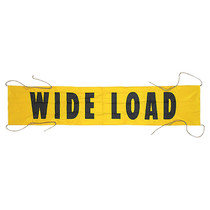14 in. x 6 ft. Oversize Load Banner w/4 Ropes | ECTTS