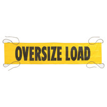 18 in. x 7 ft. Oversize Load Banner w/4 Ropes | ECTTS