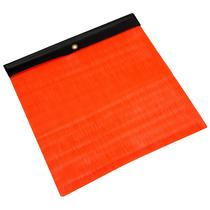 18 in. x 18 in. Orange Safety Flag w/Vinyl Belt | ECTTS