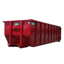 Roll Off Dumpster | 30 Yard Container 22 ft Long x 60 in Tall in Red