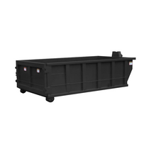 Roll Off Dumpster | 13 Yard Container 14 ft Long x 42 in Tall in Black