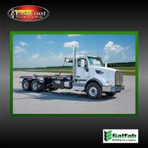 Roll Off Truck | 2021 Peterbilt 567 & Galfab 60K Outside Rail Hoist in White | Stock#10728N