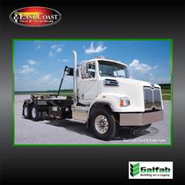 Roll Off Truck | 2021 Western Star 4700SB & Galfab 60K Outside Rail Hoist in White | Stock#10762N