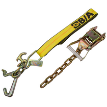 Tie-Down Strap + Ratchet, 8 ft. | 2 in. J-T-R Hook Cluster