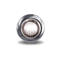 3/4 in. Mini Button Clear Red LED | 2 Wire
