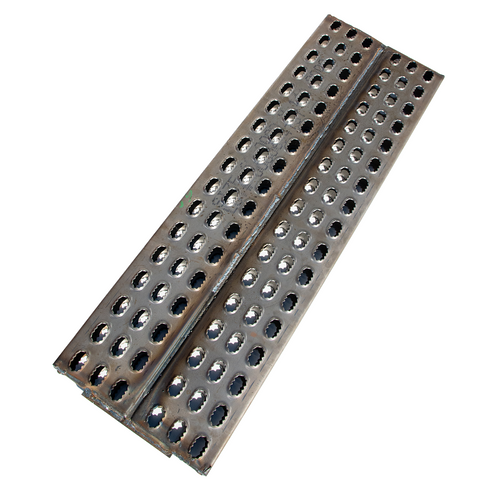 Use this 46 in. by 15 in. steel flipper to give you little more extra room when loading. Also when the flipper is flipped out you can cover the space that is left between your decks when you set them up for loading. 15 inches wide and 46 inches long
