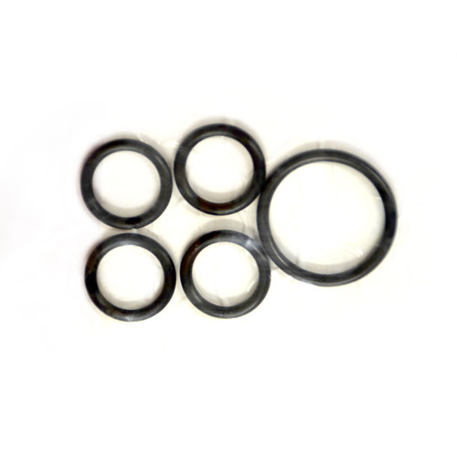 This valve section rebuild kit has five seals between the valve bodies. There is one the size of a quarter and four the size of a dime. These little rubber o-rings will prevent the hydraulic fluid from leaking through the middle of the valve body.