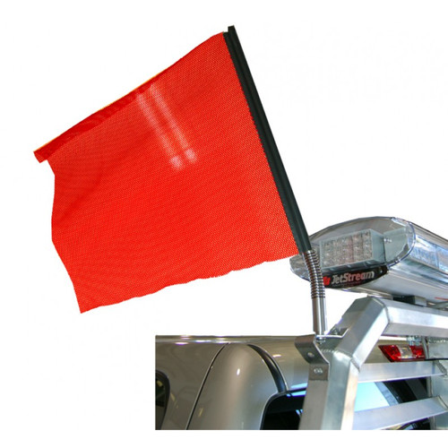 Draw attention to important warnings with this Red Safety Flag. Made with a highly durable mesh material, this flag is built to hold up against harsh weather conditions, while the bright red color is eye-catching and easy for other drivers to spot from a distance.