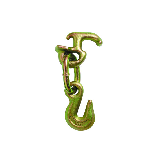 Shore up vehicles for transport with this B/A Products Grab Hook with R Grab. It secures cargo vehicles to your carrier, trailer or flatbed with a grade 70 towing chain and is a fast and easy way to hook up to front tow loops.