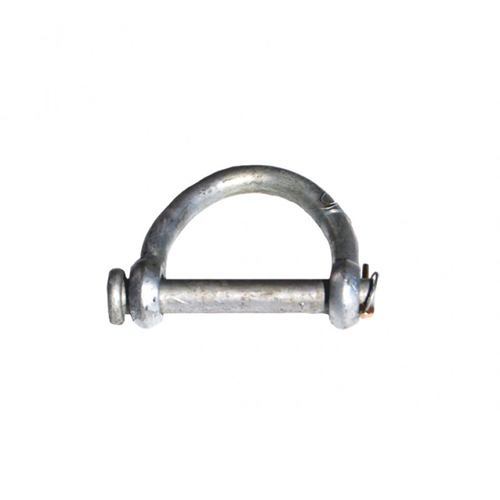 This high carbon steel shackle is made specifically for use with synthetic web slings and has an alloy shackle pin for extreme strength. For the best fit just match the tapered eye width of your strap with the quick pin shackle size. WLL: 10,800 Lbs.