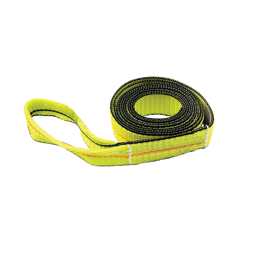 "The Strap with Tapered Eye by ECTTS is ideal for use on hitches in choker, vertical and basket form. It's made of durable material that's suitable for all types of weather.  - Size: 12' x 2""  - Working load limit: 4,000 lbs."