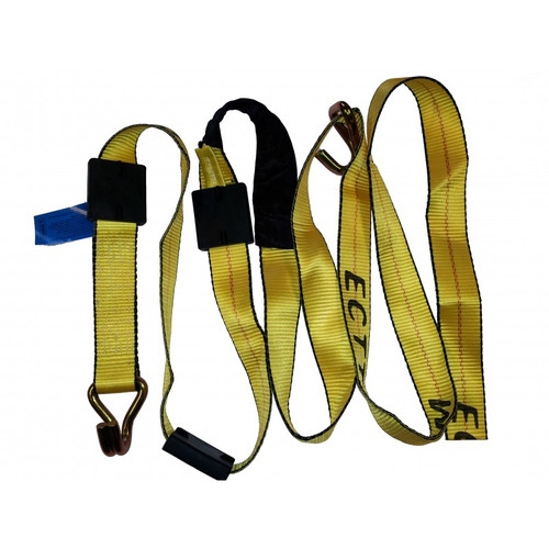 14' Carhauler Replacement Straps with Double J Hooks, Tire Grippers, and Protective Sleeve WLL: 3,670 lbs. 8940-14FT 8940-14FT,DEE,Deeper Mfg.