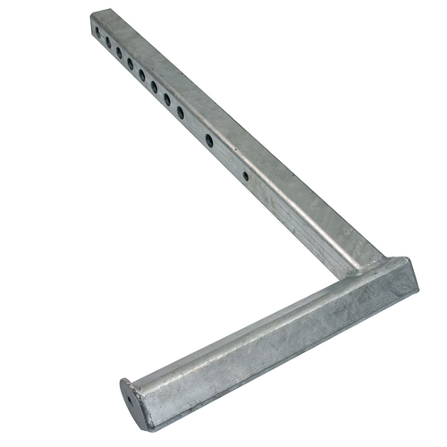 """Add a safety flag easily with this ECTTS Quickmount Bracket Assembly. The hardware is made of durable stainless steel from bracket to bolts and allows you to angle your spring-mount flag at either a 45- or a 90-degree angle for better visibility.  - Size: 3"""" x 3"""" x 3"""""""