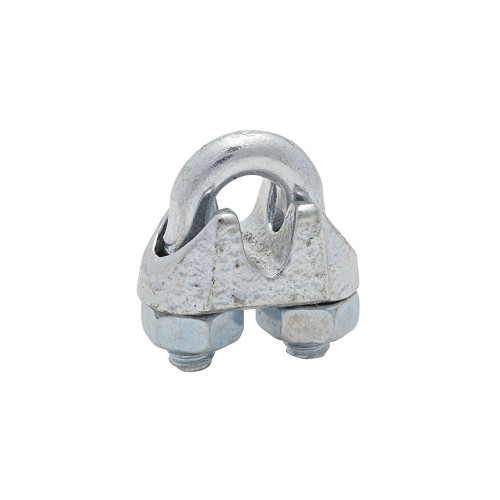 """This Wire Cable Clamp creates an eye or loop to help secure wire rope. It's constructed of a steel U-bolt and nuts with a flexible iron saddle for durability, and the torque value meets Federal Specifications FF-C-450D, Type 1 and Class 2.  - Dimensions: 0.625"""" x 0.625"""" 