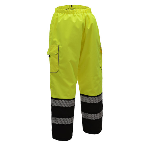 ONYX Class 3 Premium Rain Pants ANSI / Class 3 / Leaders / ONYX / Pants / Premium / Two Tone / Waterproof 300D Rip Stop Polyester Oxford Fabric with PU Coating, All seams are sealed Teflon Shield+ Fabric Protector: Repels Water, Oil and Stains Segment Hea