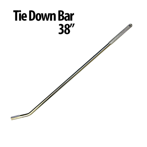 "38"" Tie Down Bars - Great for use with Auto Haulers! Winch Bars have a gripper handle and chrome plated solid steel design that helps you get a stronger and faster hold. Finish: Chrome Plated Textured Area for Gripping"