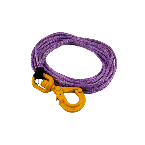 Synthetic Rope Winch Cable w/Self Locking Hook   3/8 in. x 75 ft.