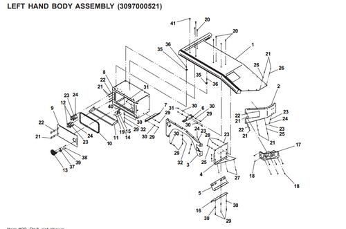tail light housing for jerr dan mpl40 mpl n tow truck jerr-dan wreckers jerr