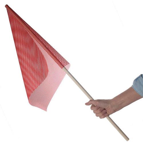Wooden Dowel W/Red Flag | 36 in. x 5/8 in. - Flag 18 in. X 18 in.